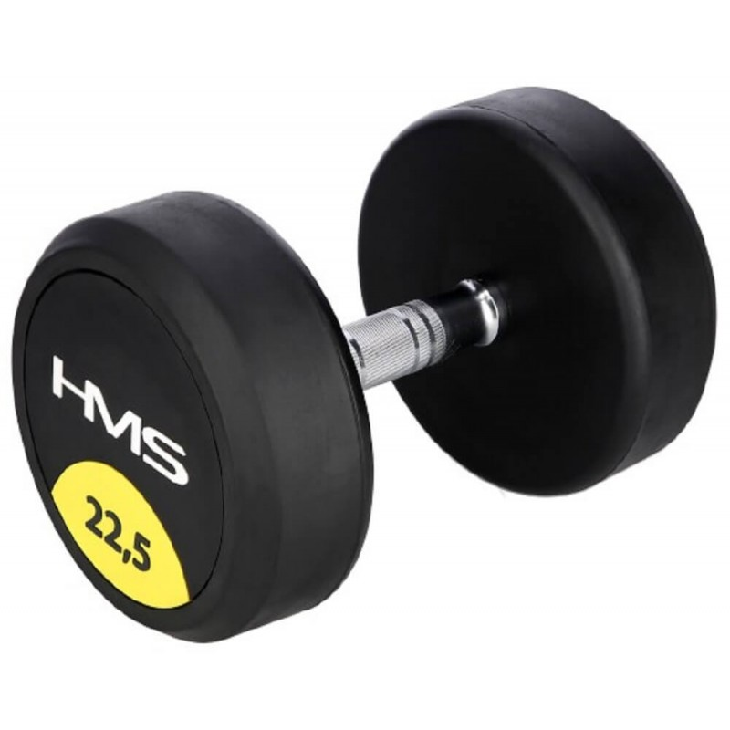 Pogumovaná jednoručná činka HG Pro HMS, 22,5 kg