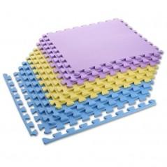 Ochranná podložka puzzle MP10 ONE Fitness, žltá-modrá-fialová