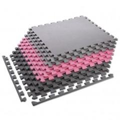 Ochranná podložka puzzle MP10 ONE Fitness, ružovo-sivá