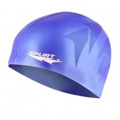 Silikónová čiapka SE34 s plastickým vzorom SPURT, modrá
