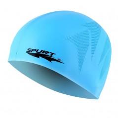 Silikónová čiapka SE25 s plastickým vzorom SPURT, modrá