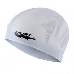 Silikónová čiapka F244 s plastickým vzorom SPURT, sivá