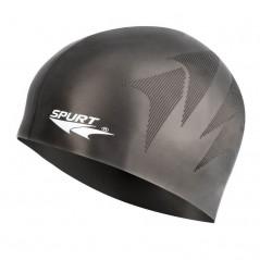 Silikónová čiapka SH80 s plastickým vzorom SPURT, čierna