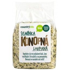 BIO Konopné semienka lúpané Countrylife, 250 g
