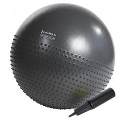 Masážna gymnastická lopta YB03 HMS, 75 cm, čierna